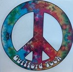 WINDOW DECAL PEACE SIGN