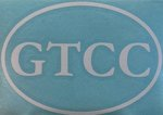 WINDOW DECAL-GTCC wht/blu